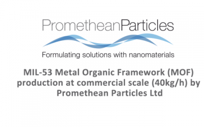 Press release: Production rate of 1kg+/minute of MIL-53 by Promethean Particles